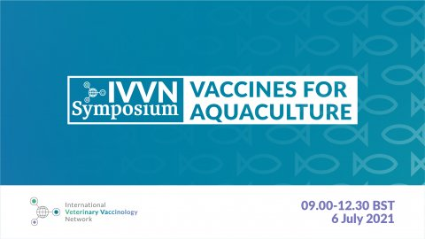 IVVN Symposium Vaccines for Aquaculture. Tuesday 6 July 2021, 9am to 12.30pm.