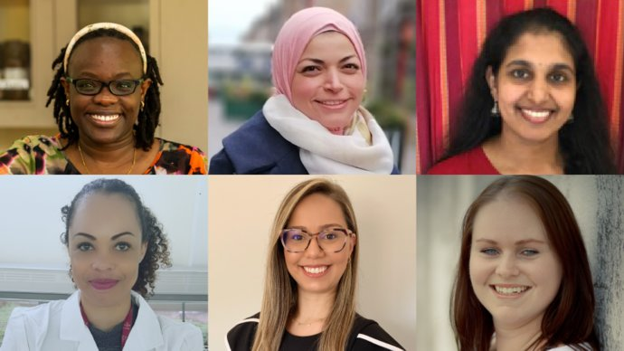 Gallery of the six 2021 IVVN Fellowship awardees