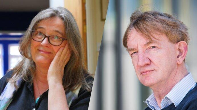 Professor Fiona Tomley and Professor Adrian Hill