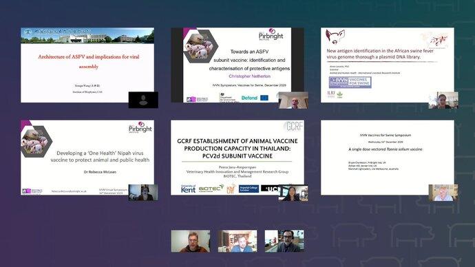 Screenshots of six presentations shown at the symposium