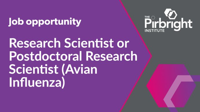 Research Scientist or Postdoctoral Research Scientist (Avian Influenza), The Pirbright Institute