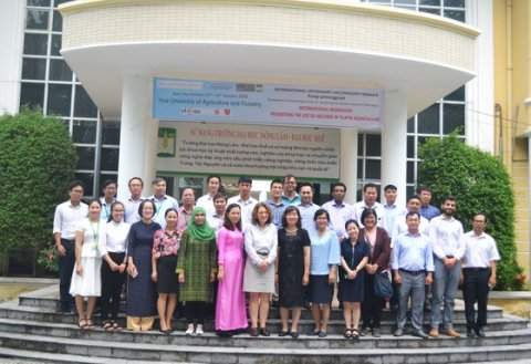 Figure 1. Group photograph of delegates at Hue University of Agriculture and Forestry on 29th-31st October.